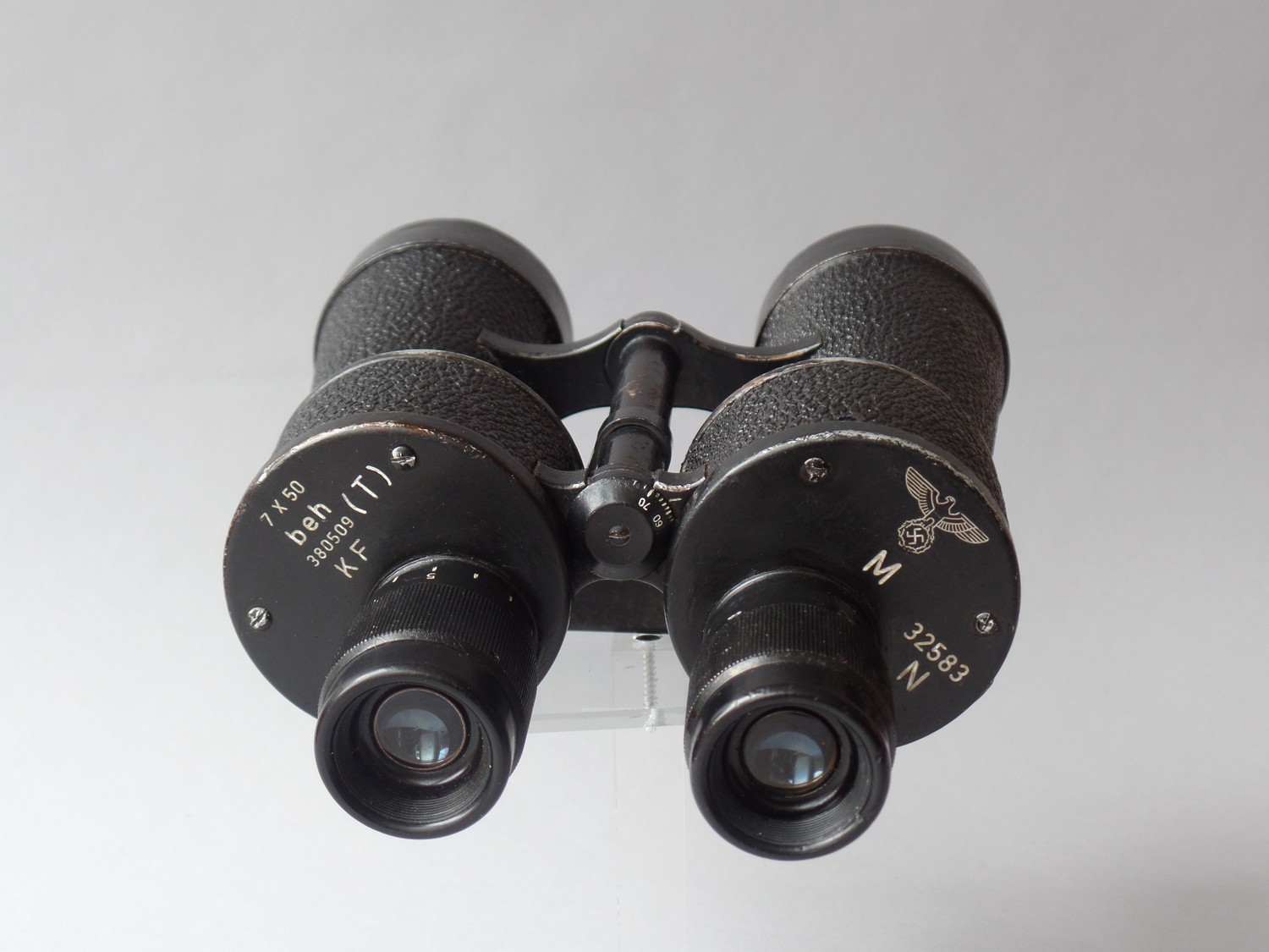 KRIEGSMARINE BINOCULARS E. LEITZ WETZLAR WW11- CLEANED & SERVICED