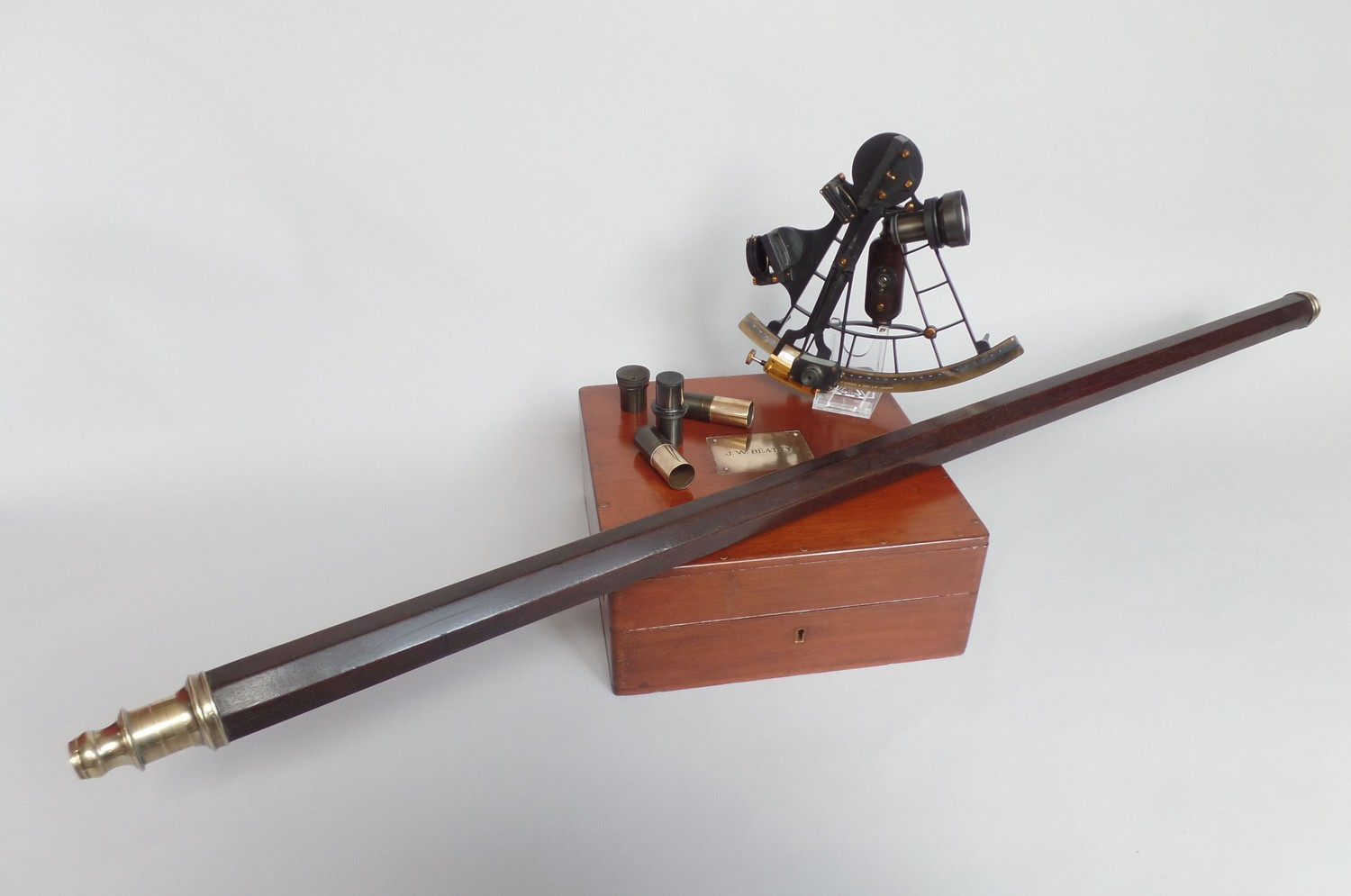 18th CENTURY OCTAGONAL TELESCOPE SIGNED - EDWARD NAIRNE LONDON