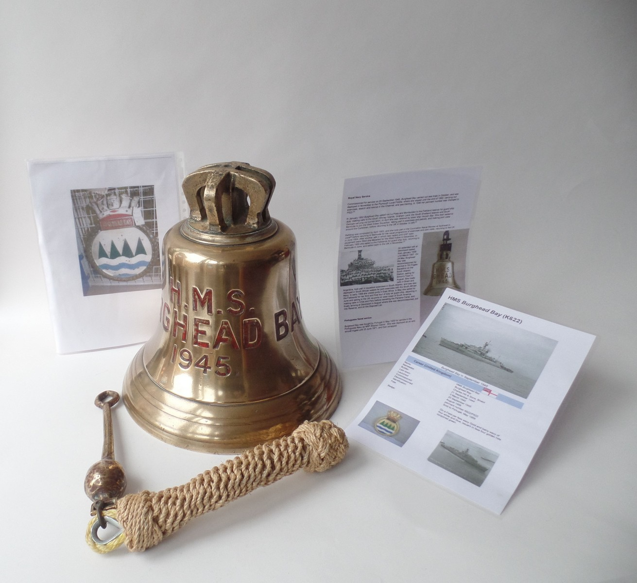 ORIGINAL W.W. 2 ROYAL NAVY SHIPS BELL – H.M.S BURGHEAD BAY
