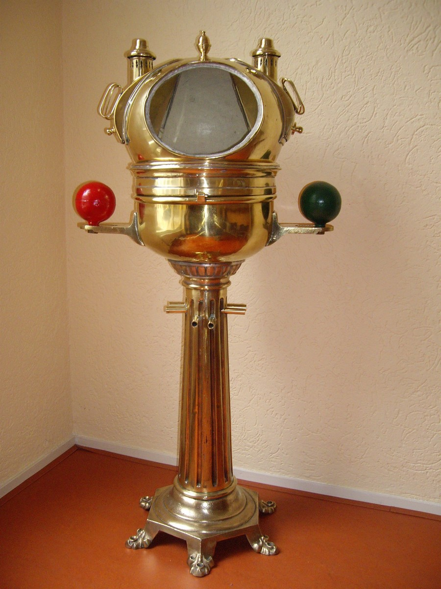 ANTIQUE YACHT BINNACLE CA.1875