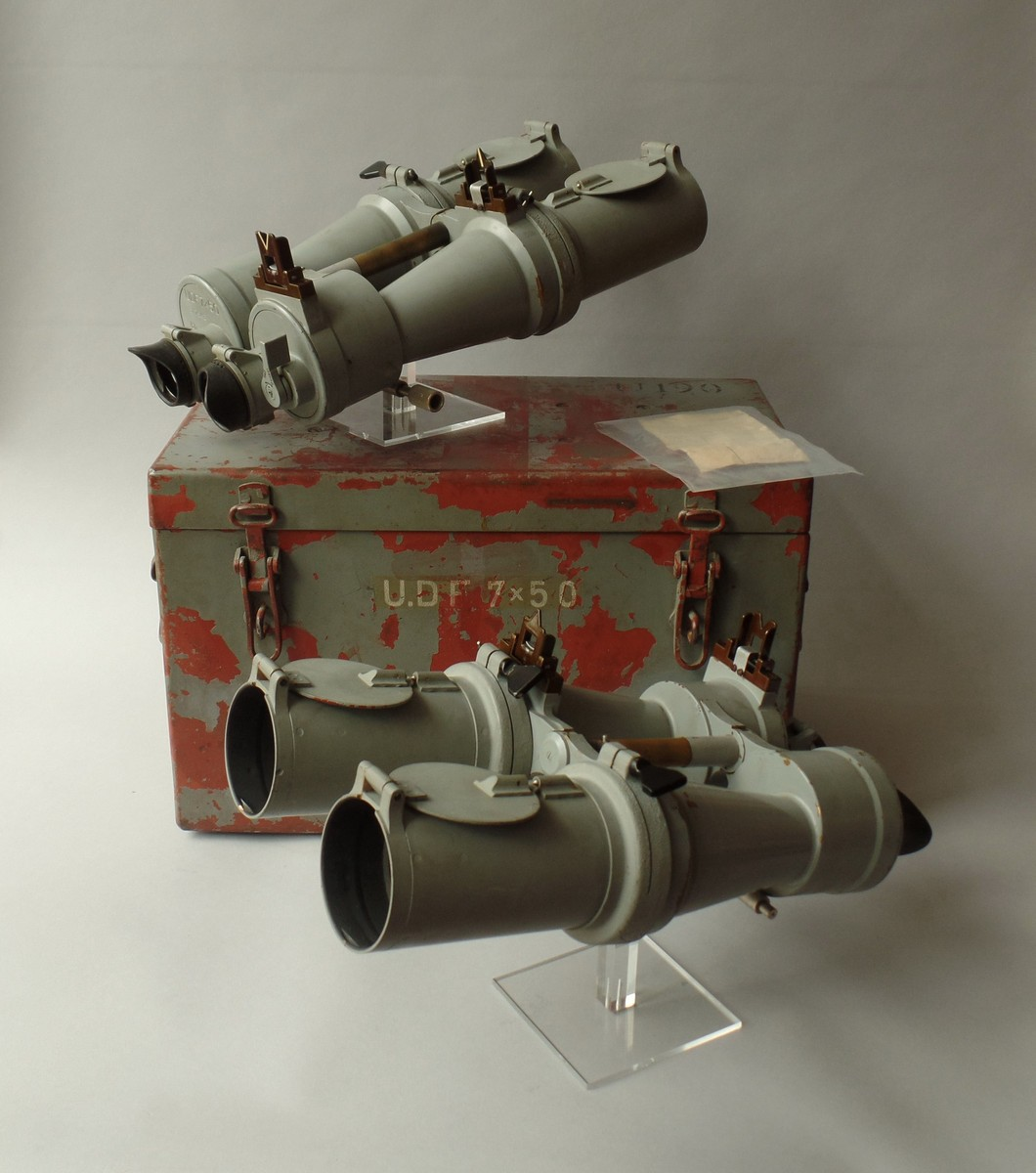 2 BOXED U.D.F. 7 X 50 BLC U- BOAT SIGHT FOR TORPEDO FIRING